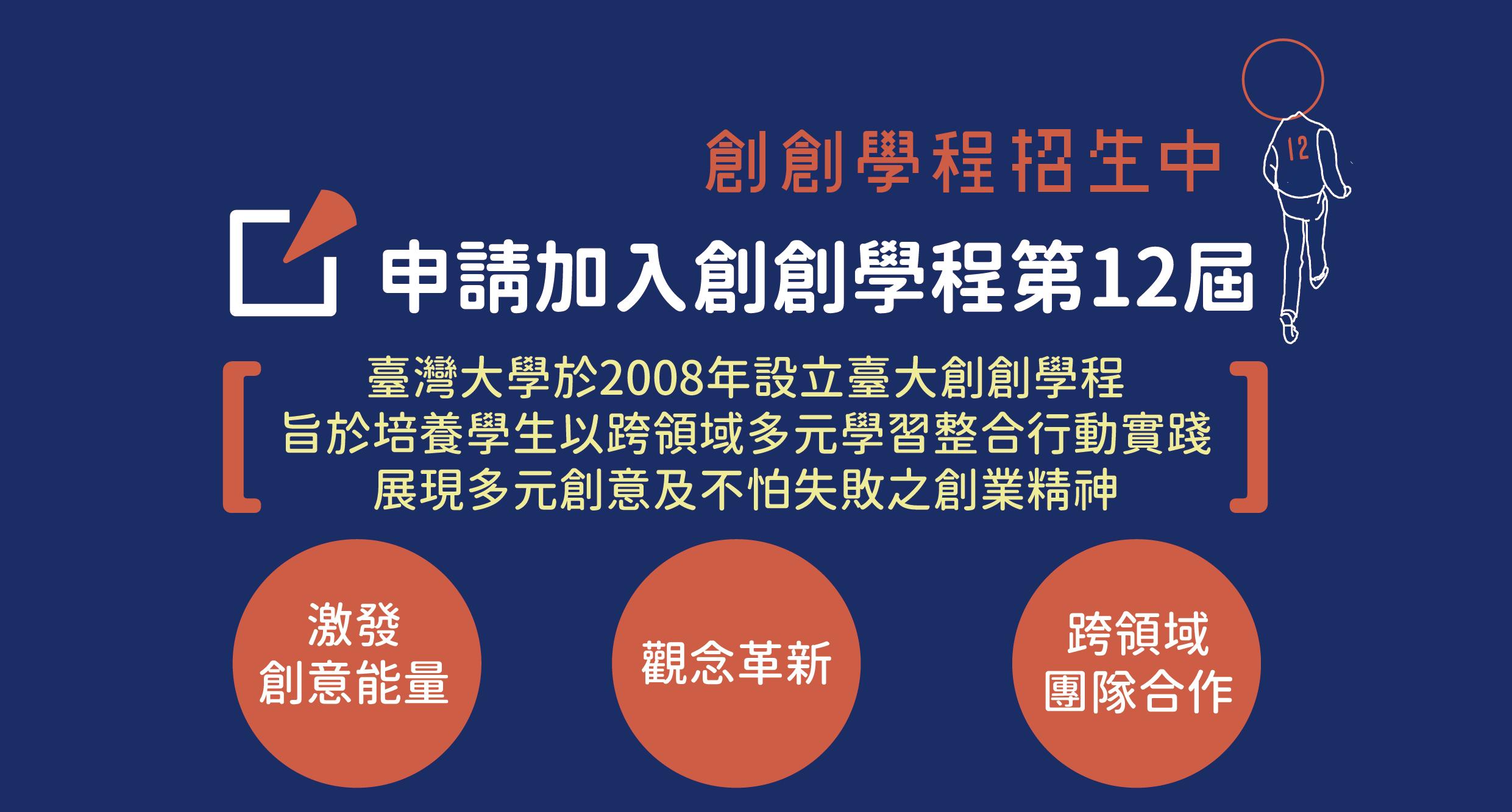 申請創創12屆招生日程